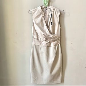 Elie Tahari Laken Beige Sleeveless Dress